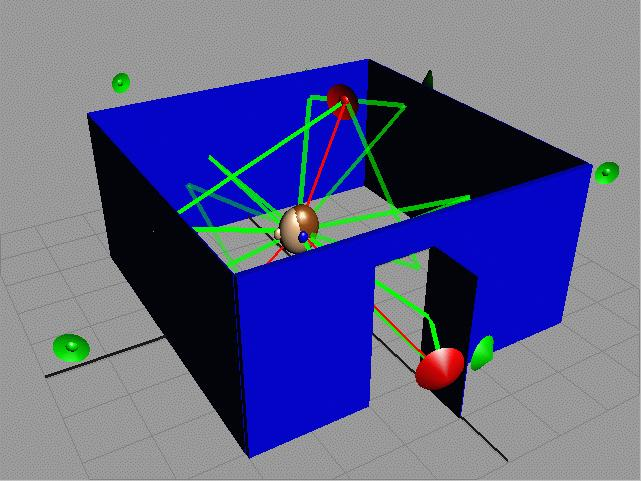 Simulating the propagation of sound waves through a complex 3D geometric